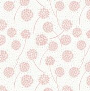 Lewis & Irene Make Another Wish - 4684 - Pink Dandelions on Off White - A59.5 - Cotton Fabric